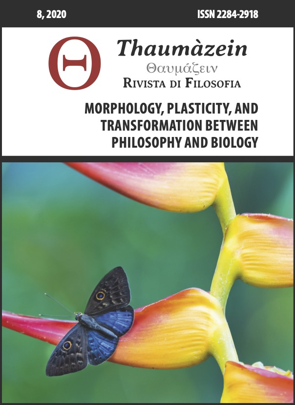 View Vol. 8 (2020): Morphology, Plasticity, and Transformation between Philosophy and Biology