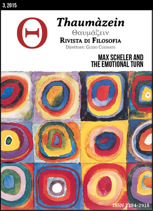 View Vol. 3 (2015): Max Scheler and the Emotional Turn